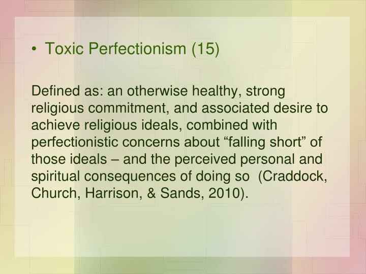 Toxic Perfectionism (15)