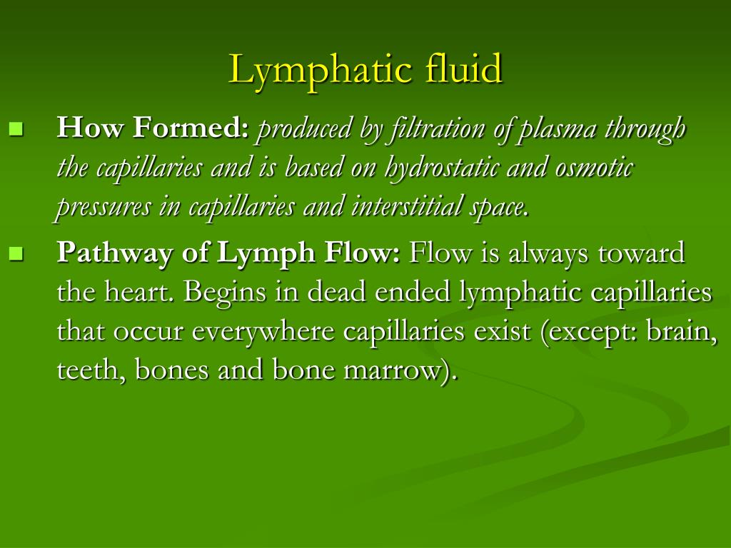 Lymphatic fluid