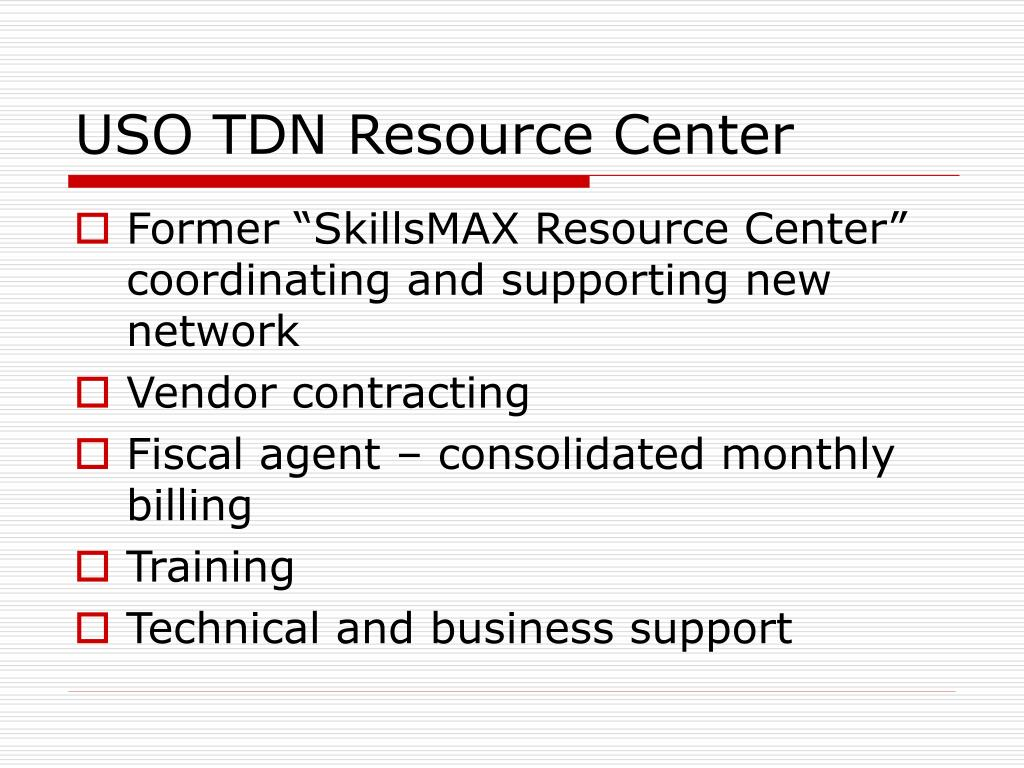 USO TDN Resource Center