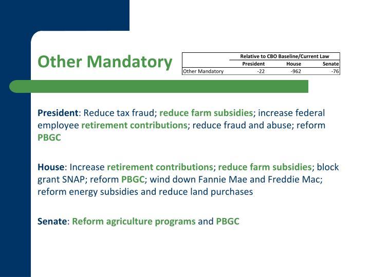 Other Mandatory