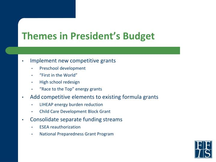 Themes in President's Budget