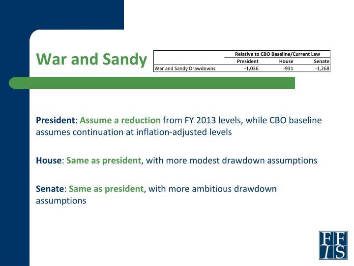 War and Sandy