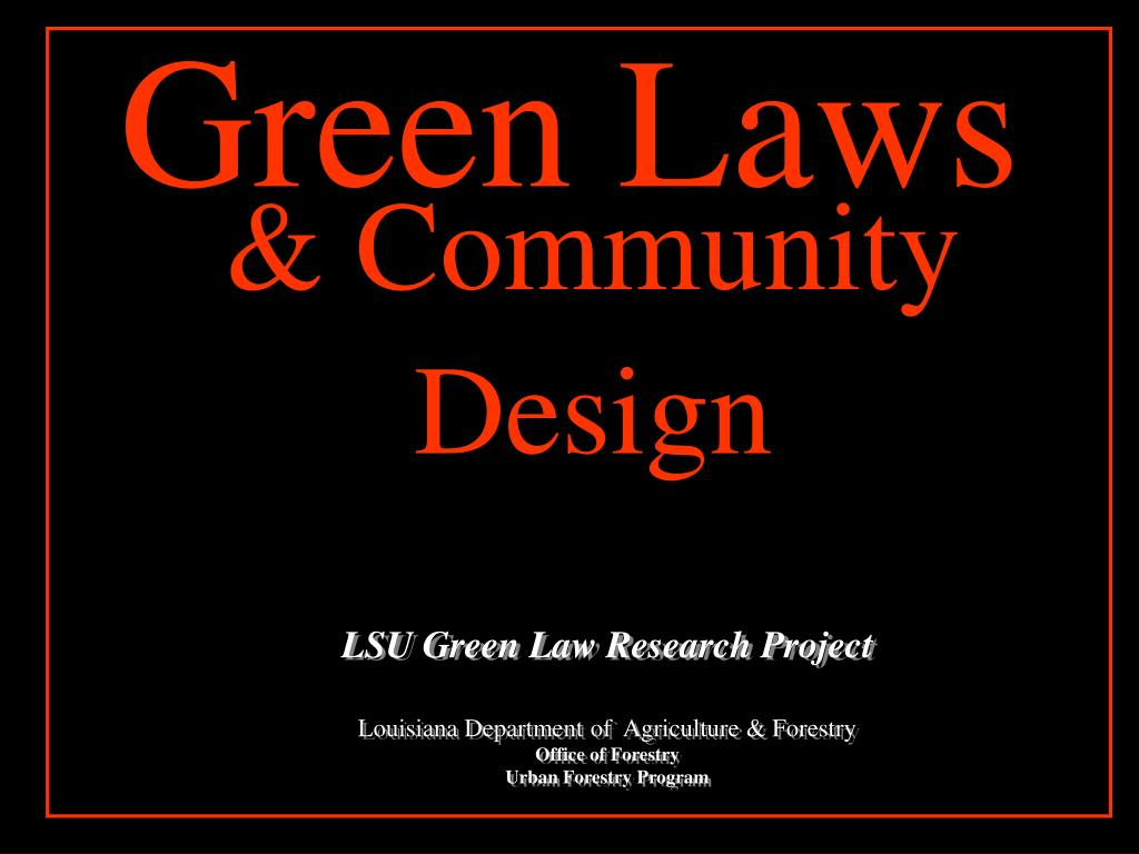 Green Laws