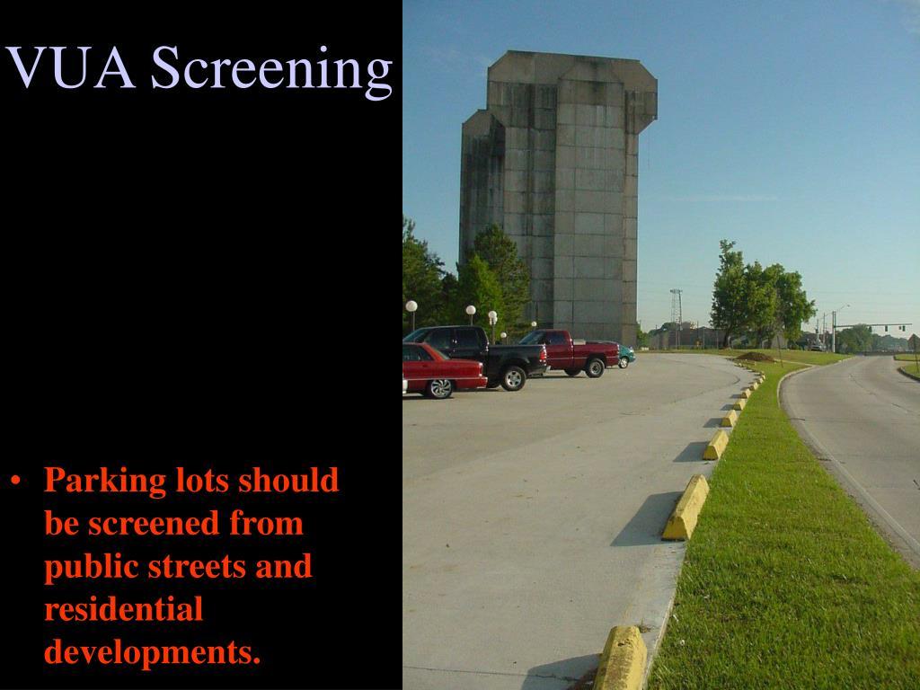 VUA Screening