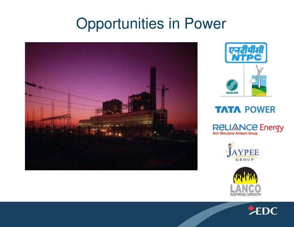Opportunities in Power