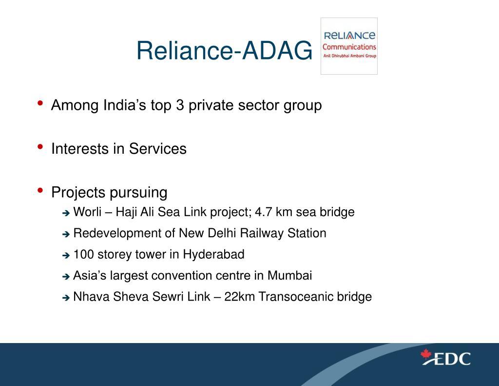 Reliance-ADAG