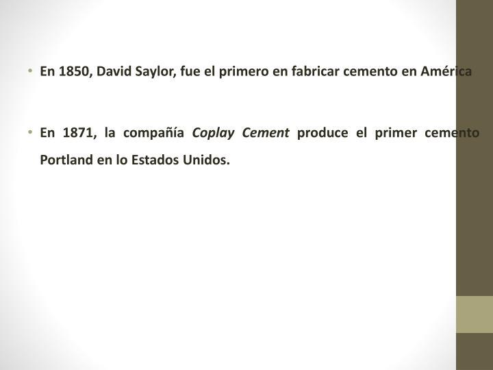 En 1850, David