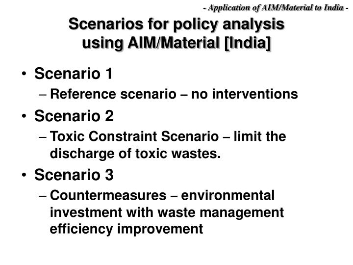 - Application of AIM/Material to India
