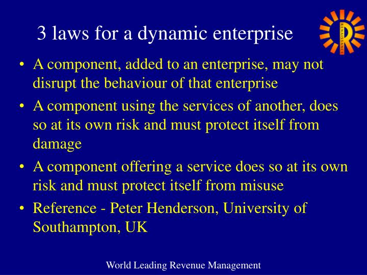 3 laws for a dynamic enterprise