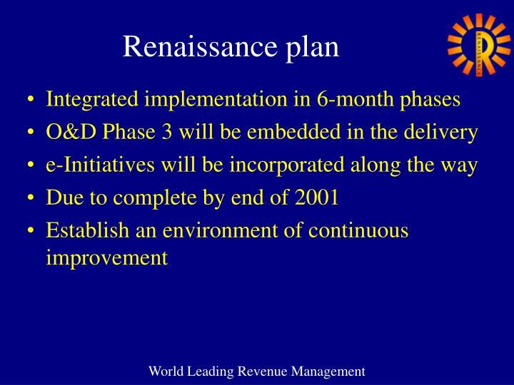 Renaissance plan