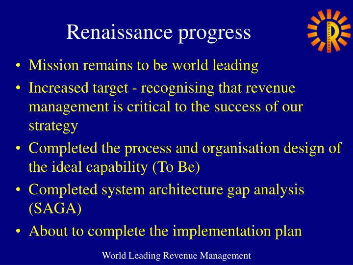 Renaissance progress