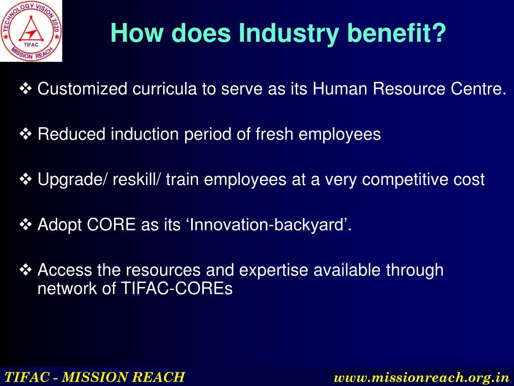 How does Industry benefit?