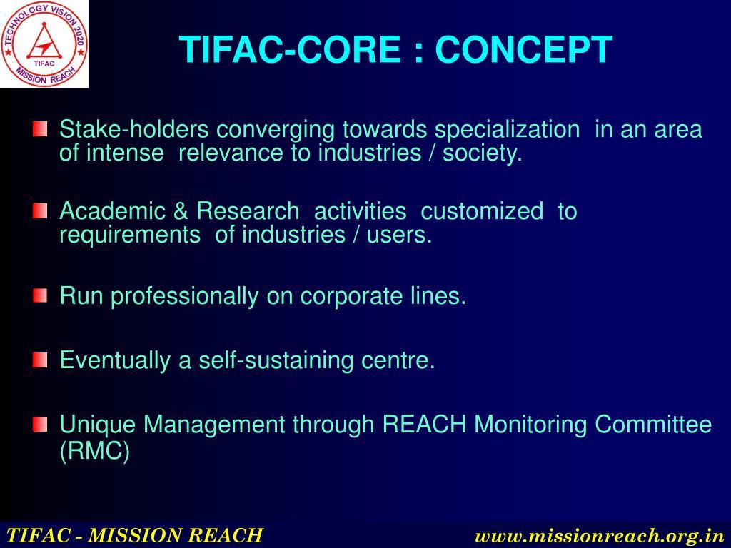 TIFAC-CORE : CONCEPT