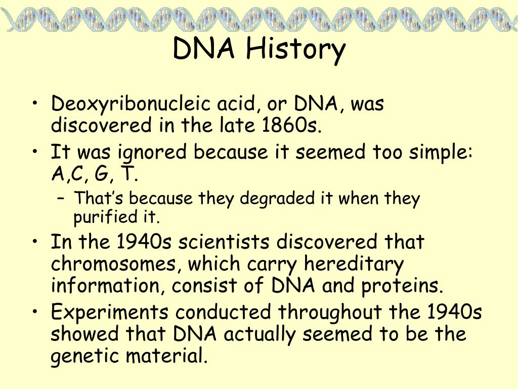 DNA History
