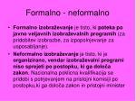 formalno neformalno