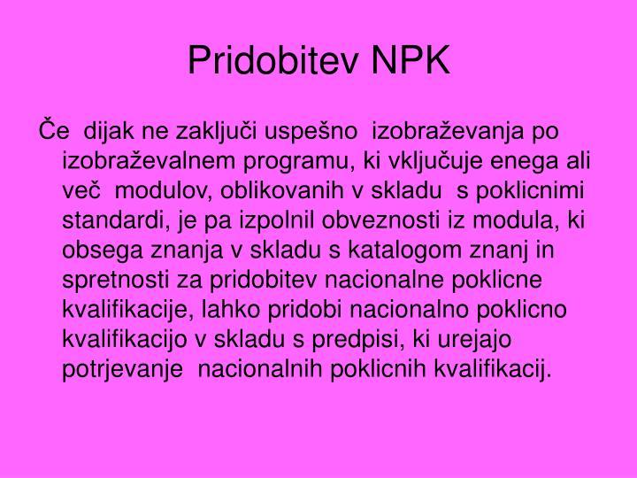 Pridobitev NPK
