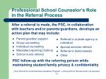professional school counselor s role in the referral process
