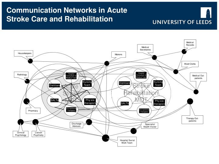 Communication Networks in Acute Stroke Care and Rehabilitation