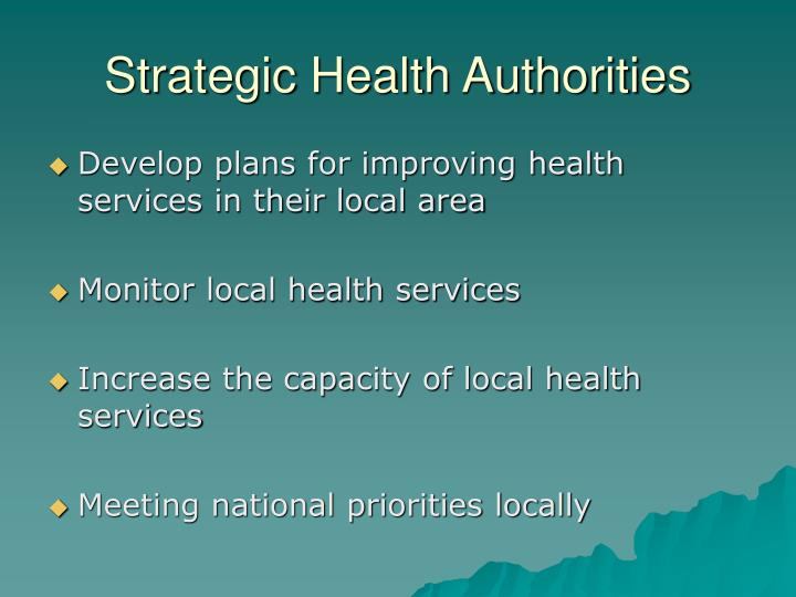 Strategic Health Authorities