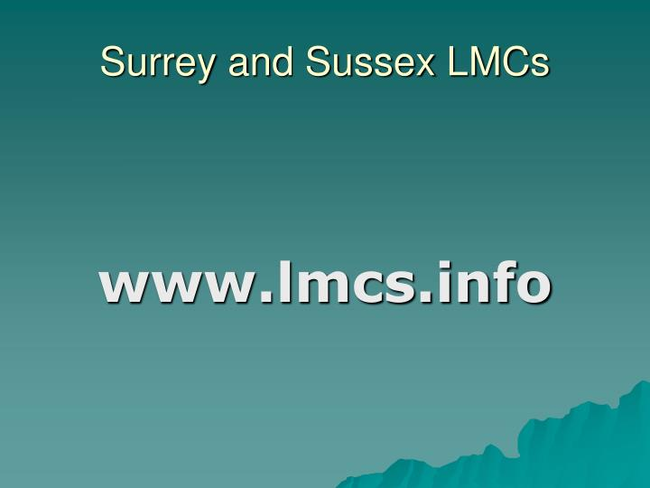 Surrey and Sussex LMCs