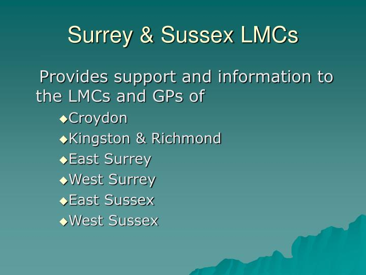 Surrey & Sussex LMCs