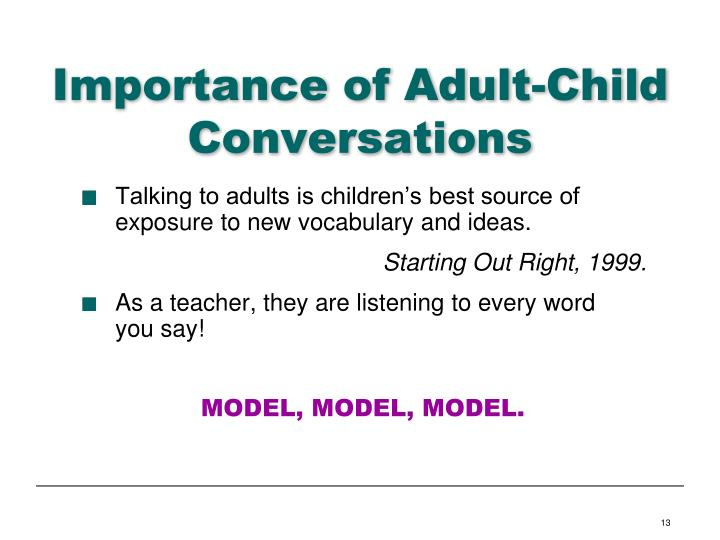 Importance of Adult-Child Conversations