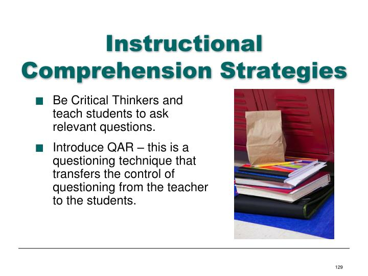 Instructional Comprehension Strategies