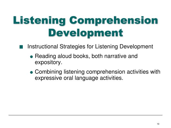 Listening Comprehension Development