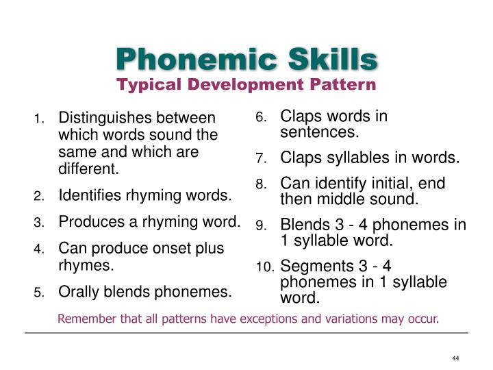 Phonemic Skills