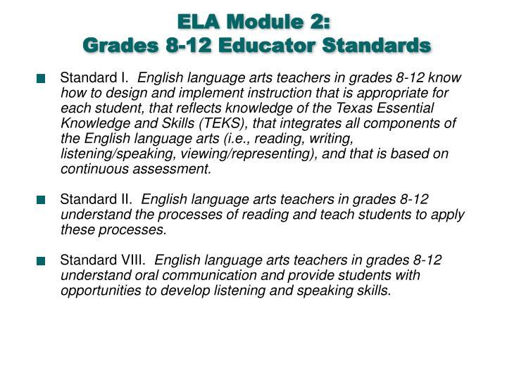 ELA Module 2: