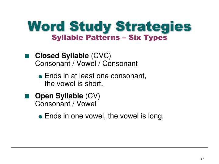 Word Study Strategies