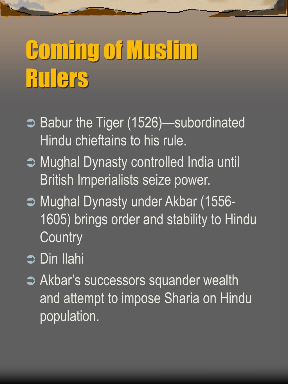 Coming of Muslim Rulers