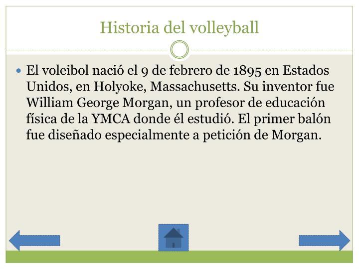 Historia del volleyball