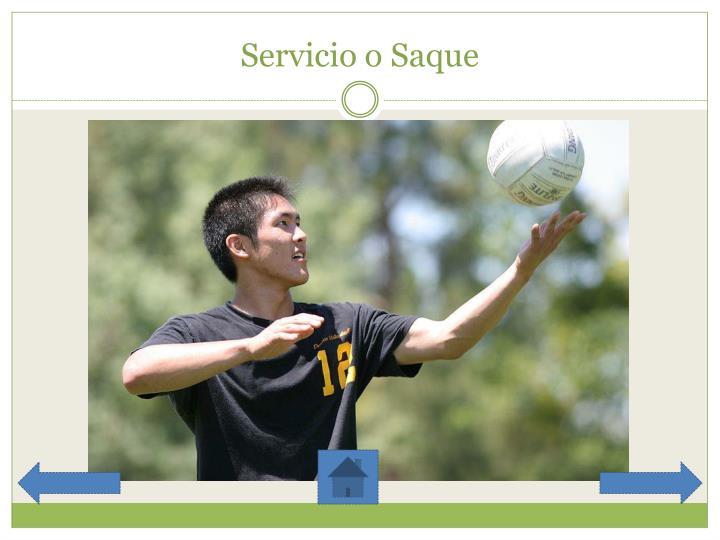 Servicio o Saque