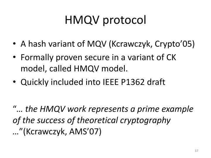 HMQV protocol
