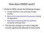 how does hmqv work