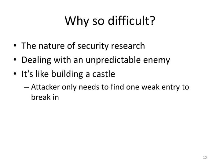 Why so difficult?