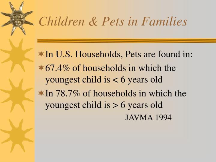 Children & Pets in Families
