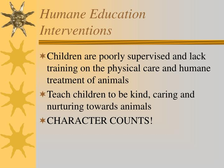 Humane Education Interventions