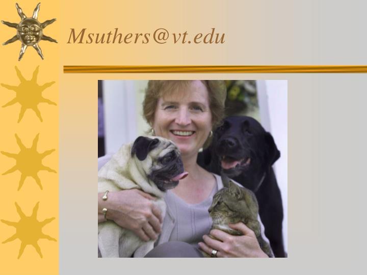 Msuthers@vt.edu
