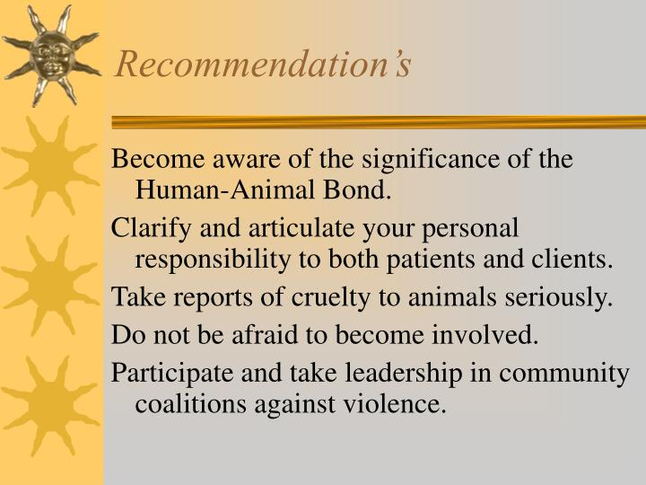 Recommendation's