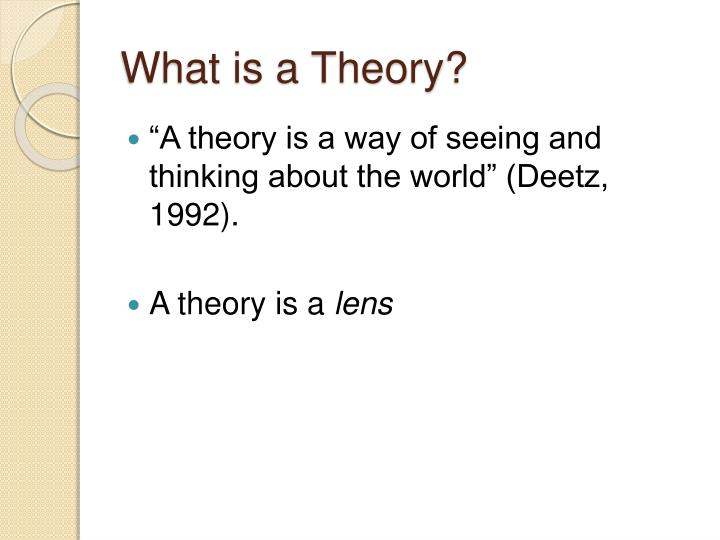 What is a theory2