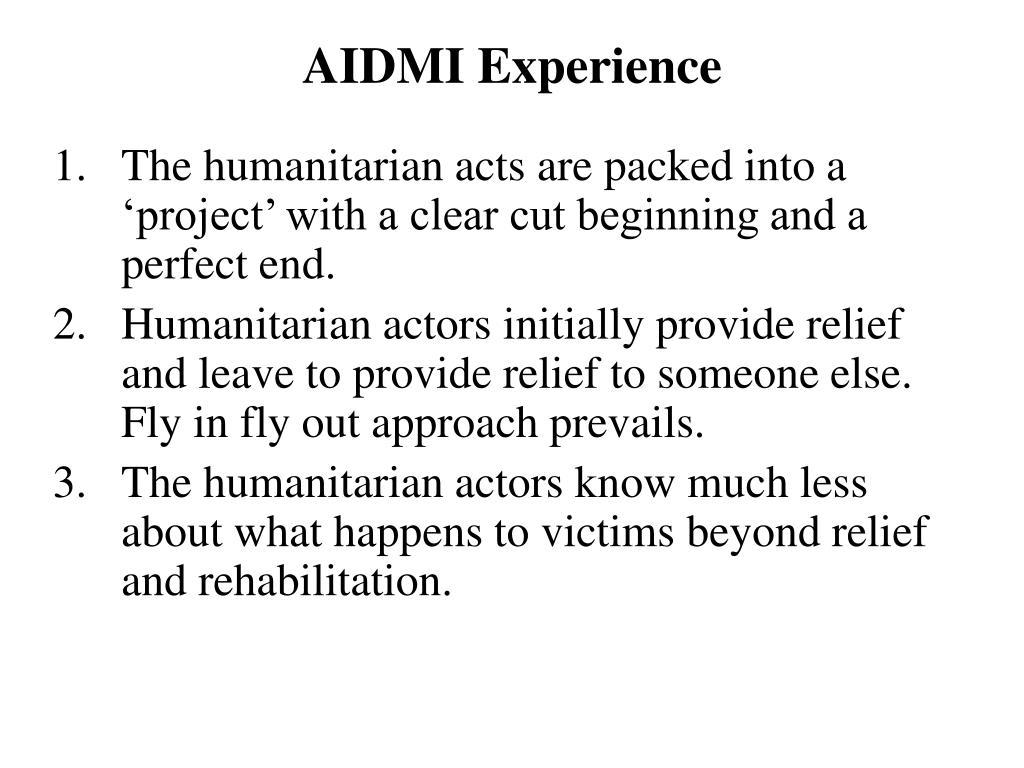 AIDMI Experience