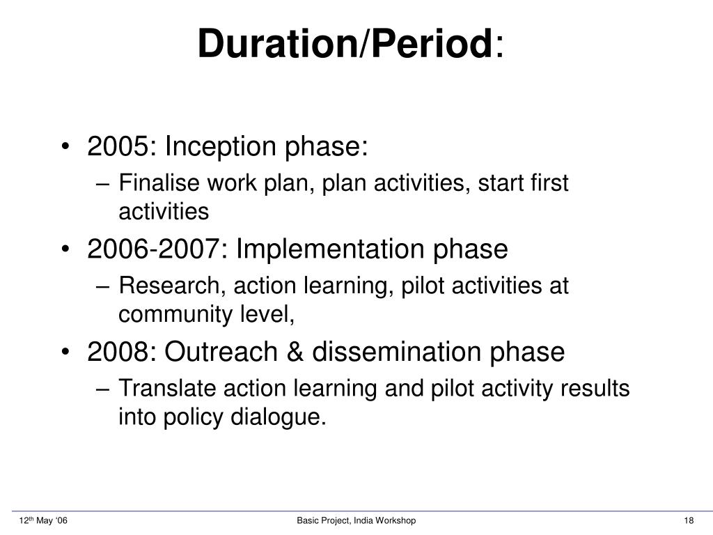 Duration/Period