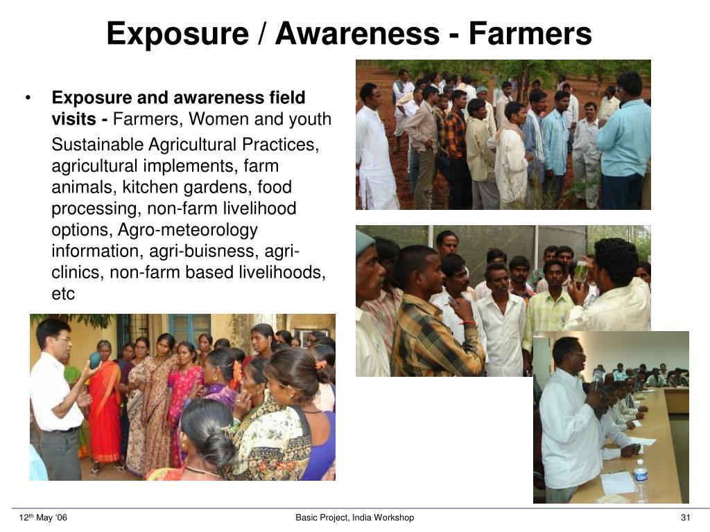 Exposure / Awareness - Farmers