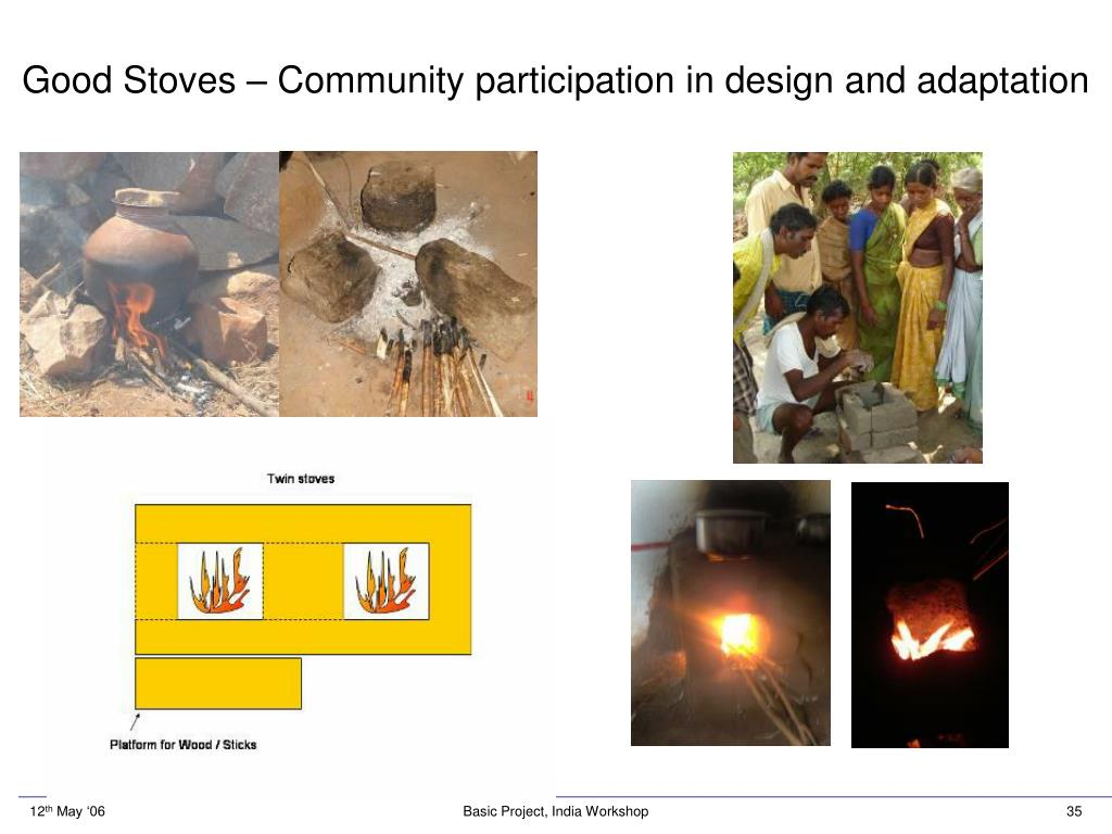 Good Stoves – Community participation in design and adaptation