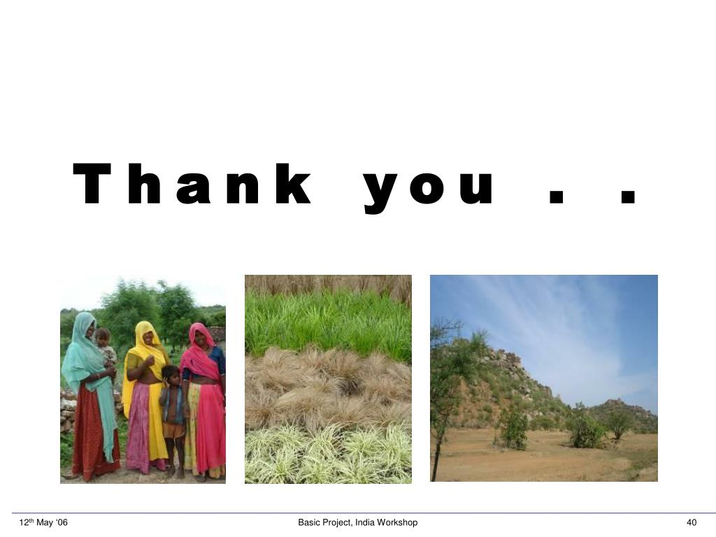 Thank you . .