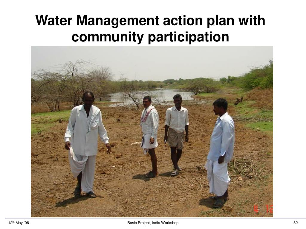Water Management action plan with community participation