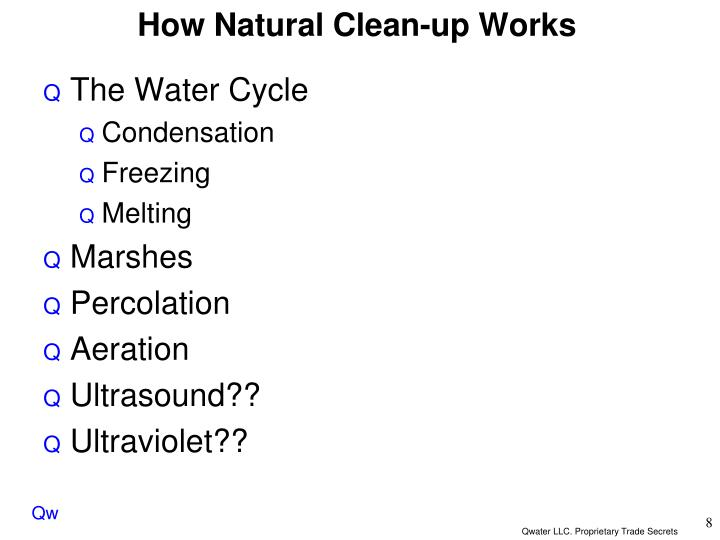 How Natural Clean-up Works