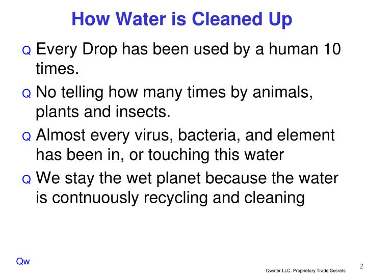 How Water is Cleaned Up